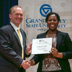 Olubunmi Parks, Graduate Dean's Citation for Excellence, 2012